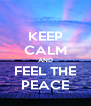 KEEP CALM AND FEEL THE PEACE - Personalised Poster A4 size