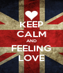 KEEP CALM AND FEELING LOVE - Personalised Poster A4 size