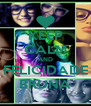 KEEP CALM AND FELICIDADE BRUNA - Personalised Poster A4 size