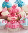 KEEP CALM AND FELICITEER VANITA - Personalised Poster A4 size