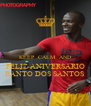 KEEP  CALM  AND FELIZ ANIVERSARIO BANTO DOS SANTOS - Personalised Poster A4 size