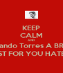 KEEP CALM AND Fernando Torres A BRACE JUST FOR YOU HATERS - Personalised Poster A4 size