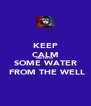 KEEP CALM AND FETCH  SOME WATER   FROM THE WELL - Personalised Poster A4 size