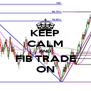 KEEP CALM AND FIB TRADE ON - Personalised Poster A4 size