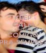 KEEP CALM AND FICA COMIGO PRA SEMPRE? - Personalised Poster A4 size