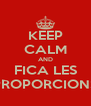 KEEP CALM AND FICA LES PROPORCIONS - Personalised Poster A4 size
