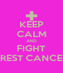 KEEP CALM AND FIGHT BREST CANCER - Personalised Poster A4 size
