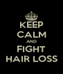 KEEP CALM AND FIGHT HAIR LOSS - Personalised Poster A4 size