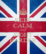 KEEP CALM AND FIGHT HARDER - Personalised Poster A4 size