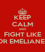 KEEP CALM AND FIGHT LIKE FEDOR EMELIANENKO - Personalised Poster A4 size