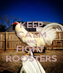 KEEP CALM AND FIGHT  ROOSTERS - Personalised Poster A4 size
