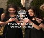 KEEP CALM AND FIGURE OUT  WHO A IS? - Personalised Poster A4 size