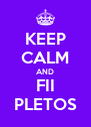 KEEP CALM AND FII PLETOS - Personalised Poster A4 size