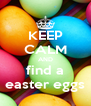 KEEP CALM AND find a easter eggs - Personalised Poster A4 size