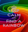 KEEP CALM AND FIND A RAINBOW - Personalised Poster A4 size