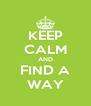 KEEP CALM AND FIND A WAY - Personalised Poster A4 size
