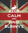 KEEP CALM AND FIND BUNNYS - Personalised Poster A4 size