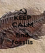 KEEP CALM AND find fossils - Personalised Poster A4 size