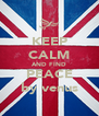 KEEP CALM AND FIND PEACE by venus - Personalised Poster A4 size