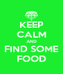 KEEP CALM AND FIND SOME FOOD - Personalised Poster A4 size