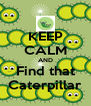 KEEP CALM AND Find that Caterpillar - Personalised Poster A4 size