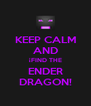 KEEP CALM AND ¡FIND THE ENDER DRAGON! - Personalised Poster A4 size
