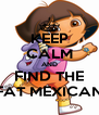 KEEP CALM AND FIND THE FAT MEXICAN - Personalised Poster A4 size