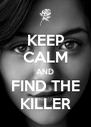 KEEP CALM AND FIND THE KILLER - Personalised Poster A4 size