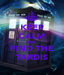 KEEP CALM AND FIND THE TARDIS - Personalised Poster A4 size