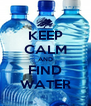 KEEP CALM AND FIND WATER - Personalised Poster A4 size