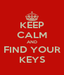 KEEP CALM AND FIND YOUR KEYS - Personalised Poster A4 size