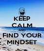 KEEP CALM AND FIND YOUR MINDSET - Personalised Poster A4 size