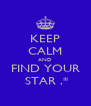 KEEP CALM AND FIND YOUR  STAR .* - Personalised Poster A4 size
