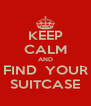 KEEP CALM AND FIND  YOUR SUITCASE - Personalised Poster A4 size