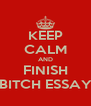 KEEP CALM AND FINISH BITCH ESSAY - Personalised Poster A4 size