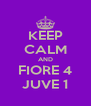 KEEP CALM AND FIORE 4 JUVE 1 - Personalised Poster A4 size