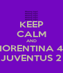 KEEP CALM AND FIORENTINA 4 - JUVENTUS 2 - Personalised Poster A4 size
