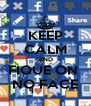 KEEP CALM AND FIQUE ON  NO FACE - Personalised Poster A4 size