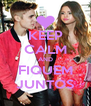KEEP CALM AND FIQUEM JUNTOS - Personalised Poster A4 size