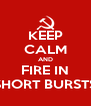 KEEP CALM AND FIRE IN SHORT BURSTS - Personalised Poster A4 size