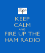 KEEP CALM AND FIRE UP THE HAM RADIO - Personalised Poster A4 size
