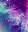 KEEP CALM AND FixYou Krisna - Personalised Poster A4 size