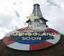 KEEP CALM AND  FlAMINGOLAND  SOON - Personalised Poster A4 size