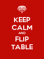 KEEP CALM AND FLIP TABLE - Personalised Poster A4 size