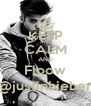 KEEP CALM AND Floow @justinbieber - Personalised Poster A4 size