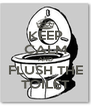 KEEP CALM AND FLUSH THE TOILET - Personalised Poster A4 size