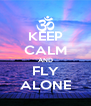 KEEP CALM AND FLY ALONE - Personalised Poster A4 size