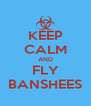 KEEP CALM AND FLY BANSHEES - Personalised Poster A4 size