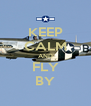 KEEP CALM AND FLY BY - Personalised Poster A4 size
