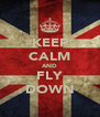 KEEP CALM AND FLY DOWN - Personalised Poster A4 size